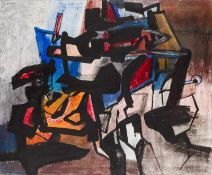 Grete Yppen * Wien 1917 - 2008 Wien Kampf des Don Quichote Öl auf Leinwand 93 x 113 cm 1957 rechts