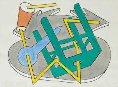 Kiki Kogelnik Bleiburg 1935 - 1997 Wien INBETWEEN Mischtechnik auf Papier 56 x 76 cm 1987 links