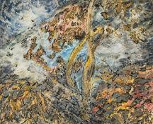 Linde Waber Zwettl 1940 geb. Natur (aus dem Zyklus Waber Vegetativ) Eitempera, Sand und Acryl auf