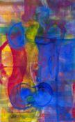 Katharina Prantl * Wien 1958 geb. Nocturne Öl auf Leinwand 130 x 80,5 cm 2016 rückseitig signiert,
