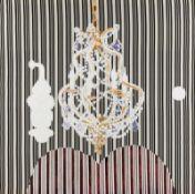Michela Ghisetti * Bergamo, Italien 1966 geb. L'UOMO DIETRO DI ME Acryl auf Stoff 140 x 140 cm