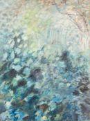 Linde Waber * Zwettl 1940 geb. Natur Eitempera auf Leinwand 160 x 120 cm 1990 links unten