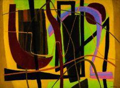 Greta Freist * Weikersdorf 1904 - 1993 Paris Fond Janne Öl auf Leinwand 96 x 130 cm 1953 rechts