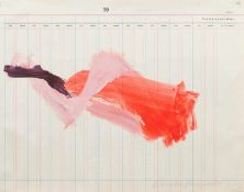 Martha Jungwirth Wien 1940 geb. Ohne Titel Acryl auf Buchungsbogen-Papier 39 x 49,5 cm 2016 rechts