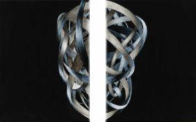 Anemona Crisan Bukarest 1980 geb. Getrennt verbunden Tusche auf Leinwand je 38 x 28 cm WV-Nr.: 288