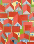 Hubert Schmalix * Graz 1952 geb. Ohne Titel (Häuserbild) Öl auf Leinwand 130 x 100 cm 2012