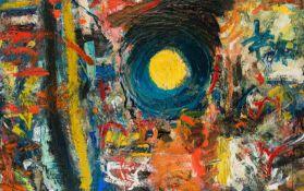 Herbert Brandl * Graz 1959 geb. Sonne Öl auf Leinwand 120 x 180 cm 1985 rückseitig monogrammiert: HB