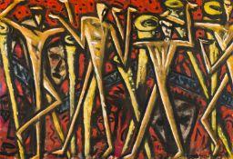 Erwin Bohatsch * Mürzzuschlag 1951 geb. Regentanz Öl und Mischtechnik auf Leinwand 195 x 285,5 cm
