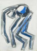 Hubert Schmalix Graz 1952 geb. Ohne Titel Gouache auf Papier 62 x 44,5 cm 1992 links unten