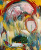 Mario Dalpra * Feldkirch 1960 geb. Ohne Titel Öl auf Leinwand 180 x 145 cm Mitte der 1980er Jahre