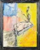 Christian Ludwig Attersee * Pressburg 1940 geb. SOHN Öl auf Leinwand 120 x 97 cm (inkl. übermalten