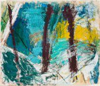 Herbert Brandl Graz 1959 geb. Ohne Titel Öl auf Bütten, Collage 55,5 x 65 cm 1983 rückseitig