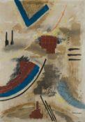 Lucas Suppin Untertauern 1911 - 1998 Salzburg Ohne Titel Materialbild auf Papier 70 x 50 cm 1978