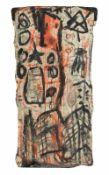 Gunter Damisch * Steyr 1958 - 2016 Wien Ohne Titel Öl auf Leinwand auf Sesselrücklehne 81 x 38 cm