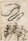 Herbert Brandl Graz 1959 geb. Ohne Titel Kohlestift auf Papier 81 x 56 cm 1988 rückseitig signiert