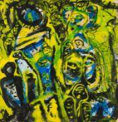 Gunter Damisch Steyr 1958 - 2016 Wien Ohne Titel Gouache auf Nepalbütten 102 x 98 cm 1991 rechts