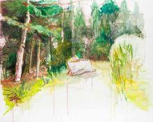 Alois Mosbacher * Strallegg 1954 geb. Ohne Titel Öl auf Leinwand 160 x 200 cm 2002 rückseitig