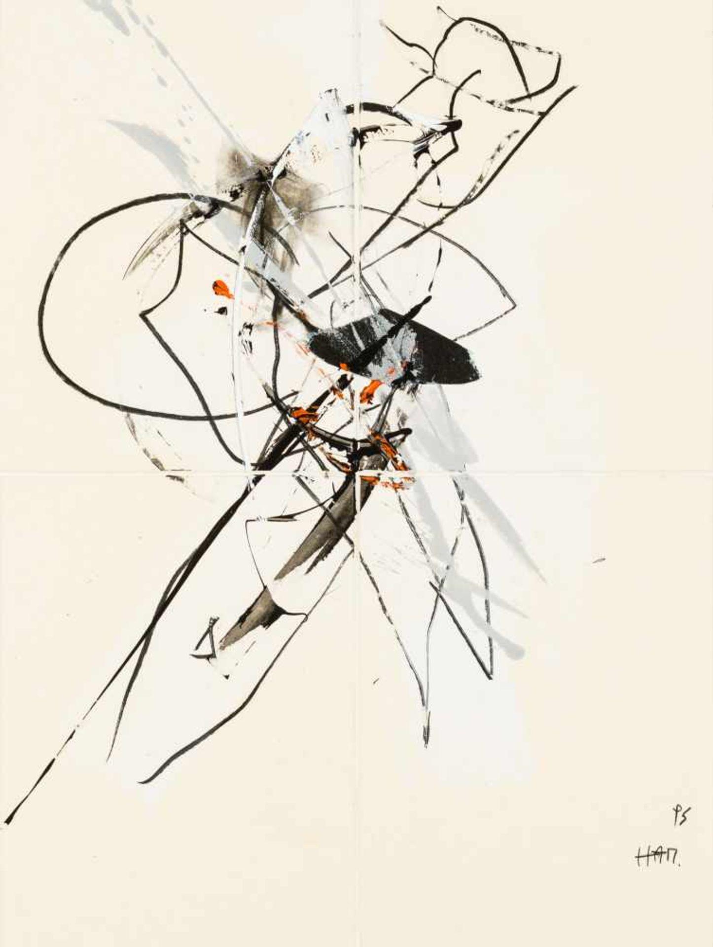 Los 13 - Hannes Mlenek Wiener Neustadt 1949 geb. Ohne Titel Mischtechnik und Collage auf Karton 66 x 49 cm