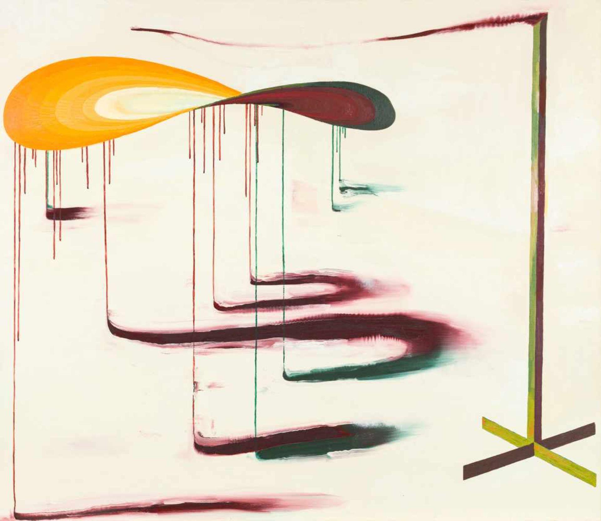 Los 17 - Pawel Ksiazek * Kraków (Polen) 1973 geb. VIBRATING OBJECT Öl auf Leinwand 130 x 150 cm 2004