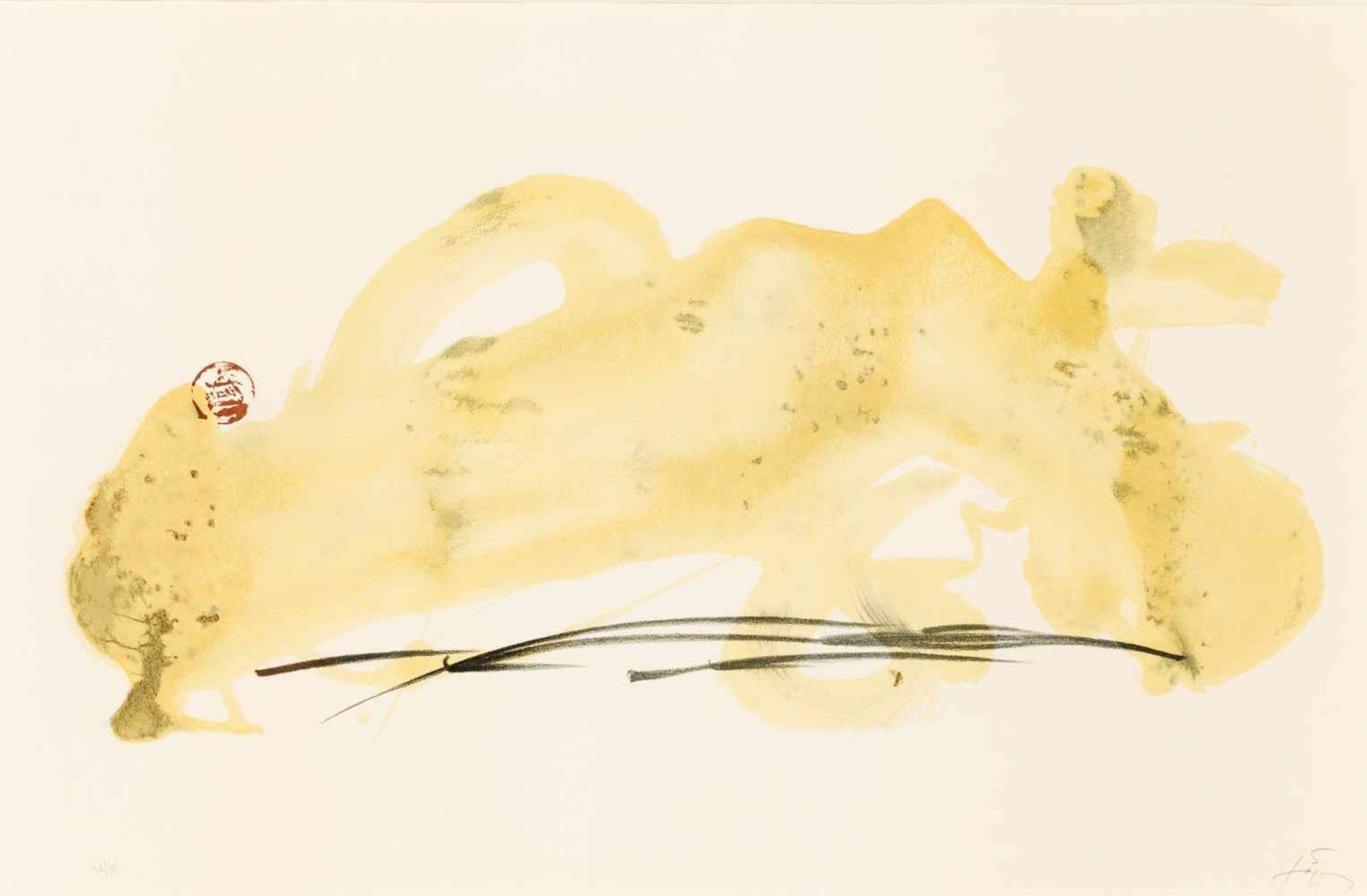 Los 7 - Antoni Tapies Barcelona 1923 - 2012 Barcelona Vernis paysage Lithographie auf Papier 64 x 96 cm