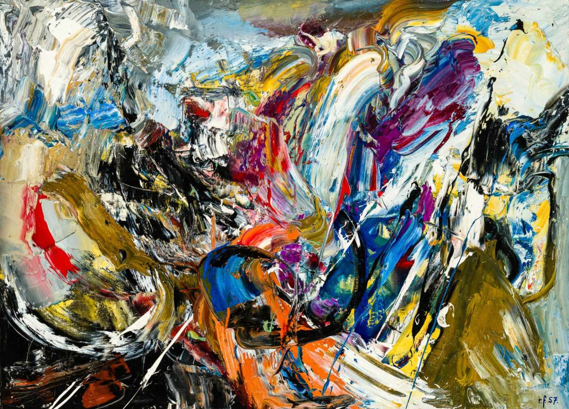 Los 24 - Ruth Francken Prag 1924 - 2006 Paris Petite Vallee De Blake Öl auf Leinwand 73 x 101 cm 1957