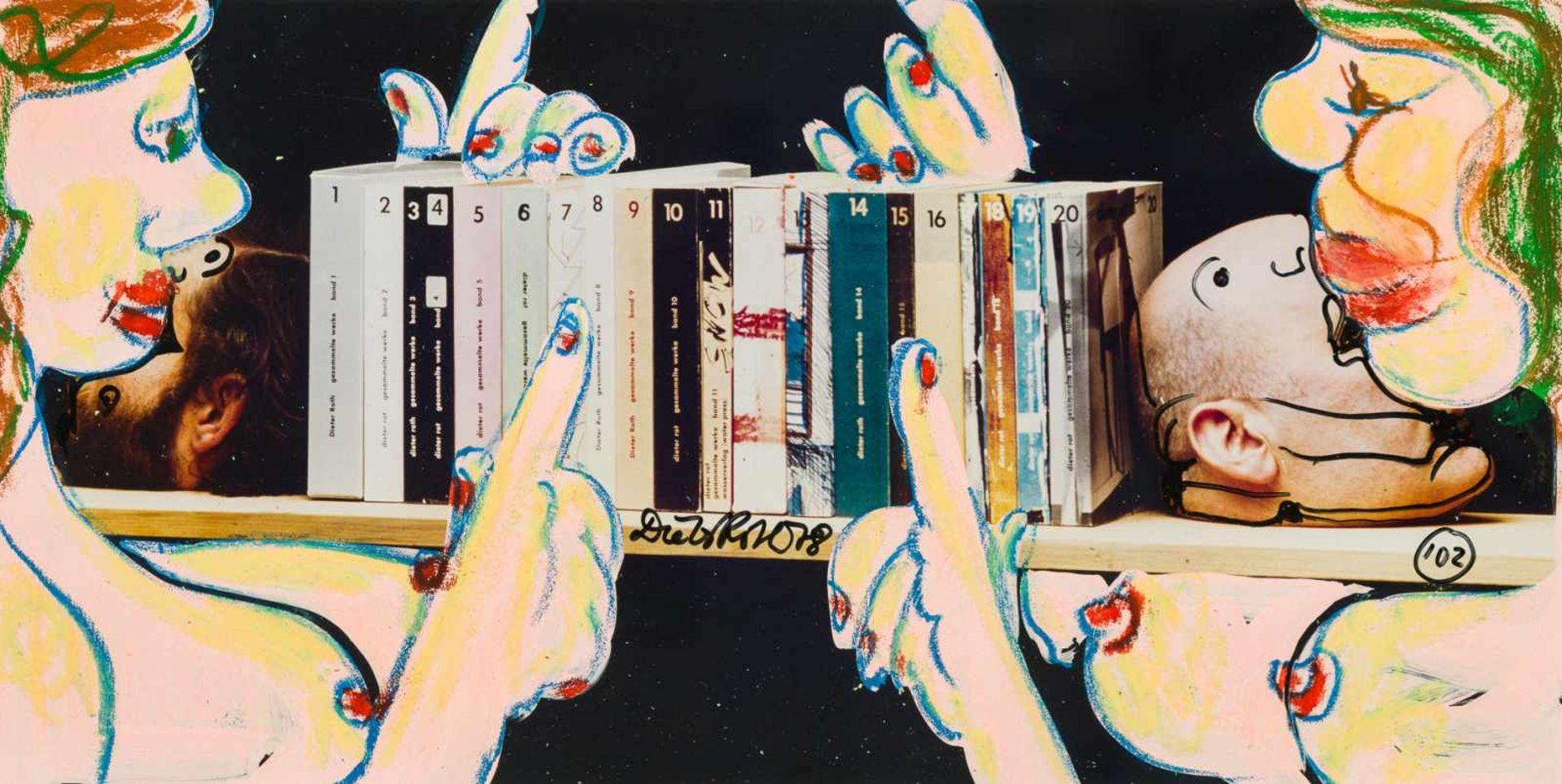 Los 57 - Dieter Roth Hannover 1930 - 1998 Basel Ohne Titel (Gesammelte Werke) Collage, Ölkreide auf Papier