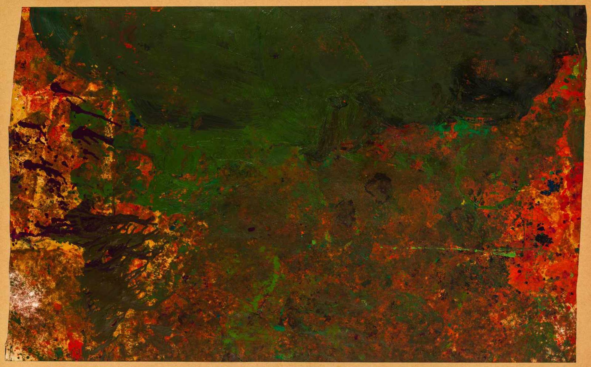 Los 37 - Hermann Nitsch * Wien 1938 geb. Ohne Titel Mischtechnik auf Papier, aufkaschiert auf Platte 99,5 x