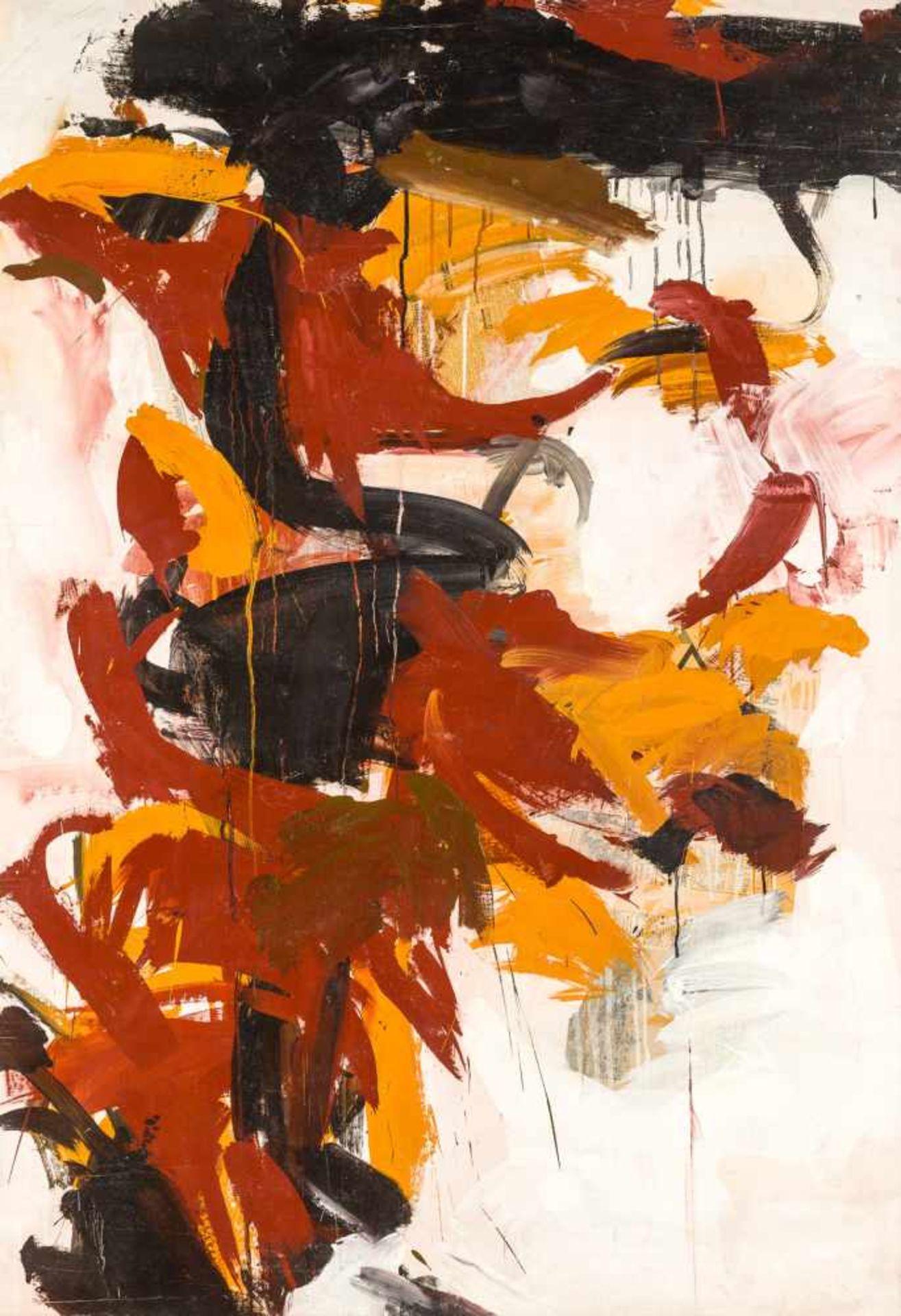 Los 34 - Adolf Frohner * Groß-Inzersdorf 1934 - 2007 Wien Malerei Öl und Collage (Zeitungen) auf Molino 191,5