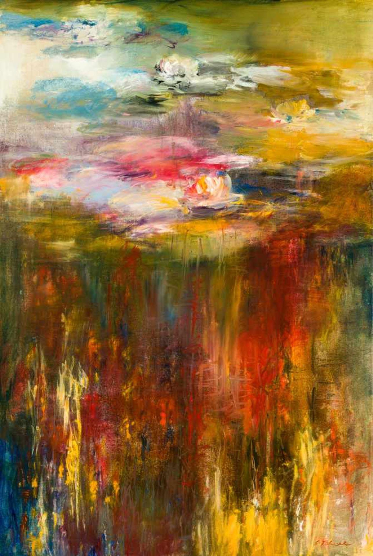 Los 15 - Ernestine Tahedl * Ried in der Riedmark 1940 geb. Elements Acryl auf Leinwand 181,5 x 121,5 cm