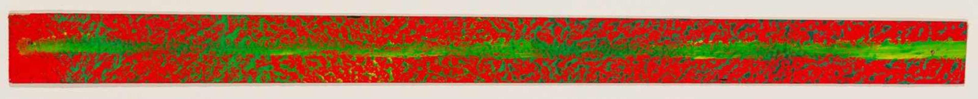 Los 31 - Gerhard Richter Dresden 1932 geb. Strich (auf Rot) Öl auf Karton 3,3 x 47,5 cm 1979 rückseitig