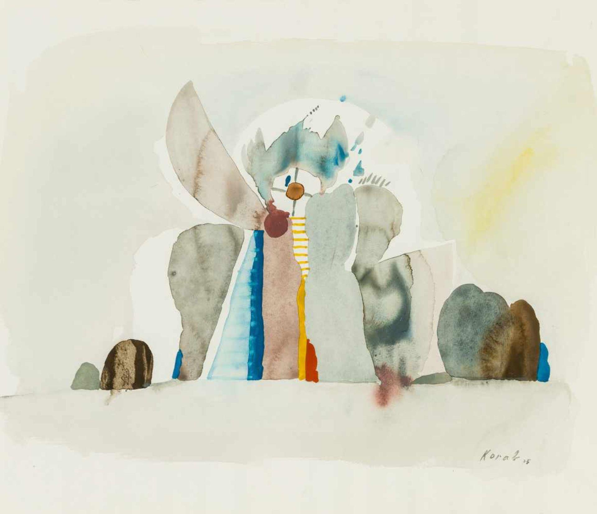 Los 10 - Karl Korab Falkenstein 1937 geb. Stillleben Aquarell auf Papier 35,5 x 41 cm (