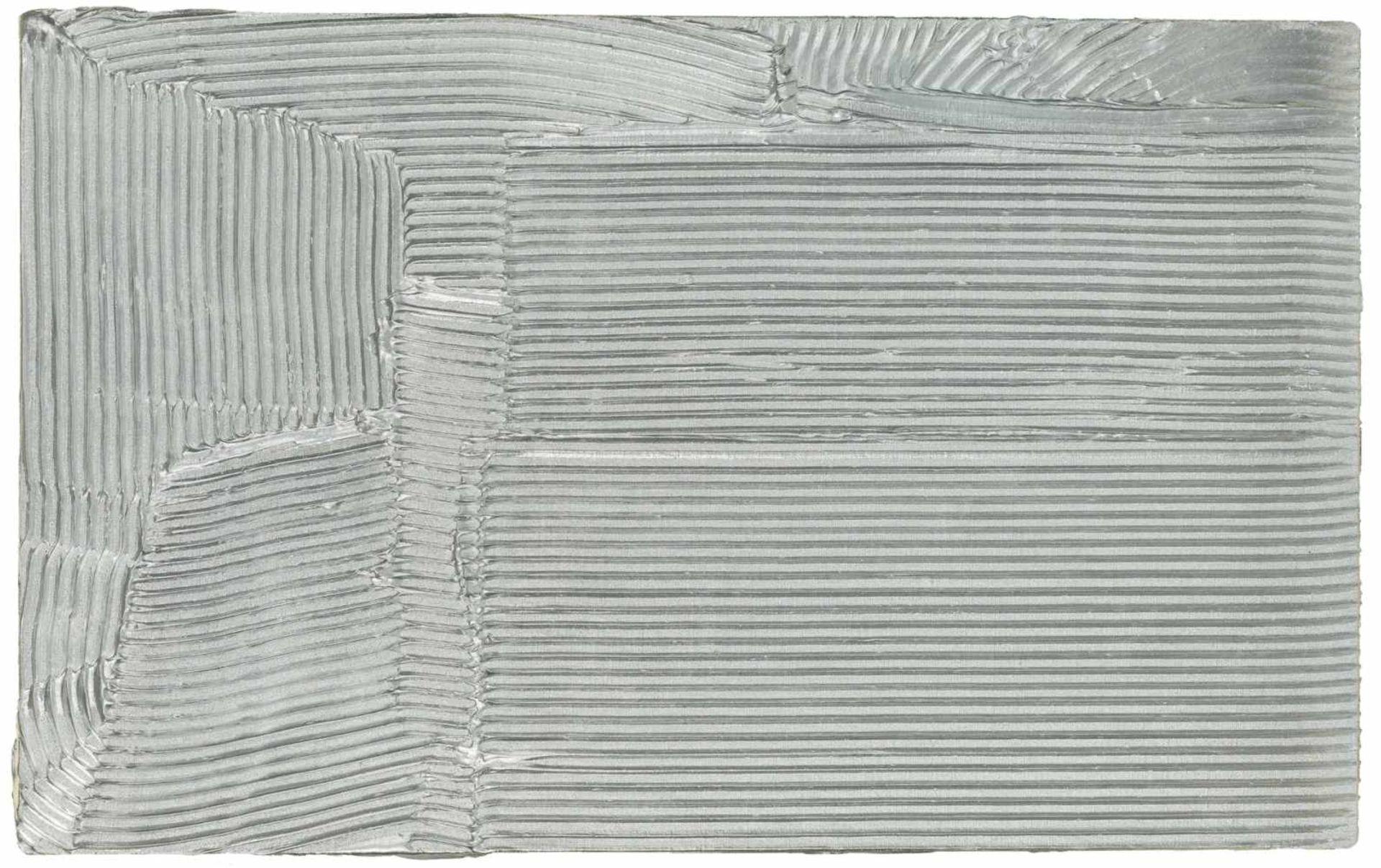 Los 42 - Jakob Gasteiger Salzburg 1953 geb. Ohne Titel (8.11.2008) Acryl und Aluminium auf Leinwand 55 x 88,5