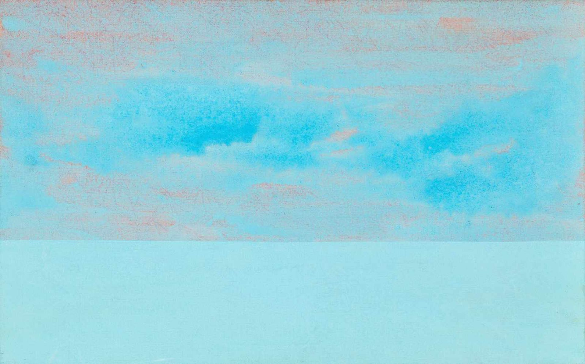"""Los 47 - Hannah Stippl Wien 1968 geb. Ohne Titel (aus der Serie """"blue_04"""") Gouache auf Leinwand 50 x 80 cm"""