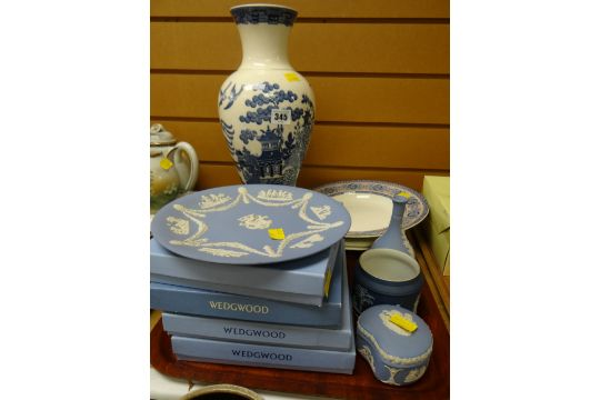 A Parcel Of Wedgwood Jasperware Including Boxed Plates And A Blue