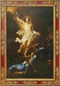 Italienischer Meister 17. Jh. Der auferstandene Christus in Gloriole über dem Grab schwebend; in