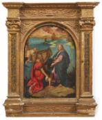 Der wunderbare Fischzug mit der Berufung des Simon Petrus Italien, um 1600 Petrus vor Jesus