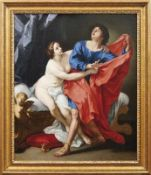 Cignani, Carlo - Werkstatt Der keusche Joseph und das Weib Potiphars (Bologna 1628-1719 ebd.) Öl/