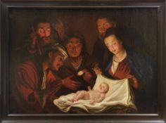 Anbetung des Jesuskindes durch die Hirten Italienischer oder flämischer Meister des 17. Jahrhunderts