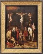 Kreuzigung Christi Flämischer Meister des 17. Jahrhunderts Figurenreiche Golgothadarstellung mit