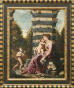 Francesco Cozza (Attrib.) Die Madonna mit dem Christusknaben und Johannes dem Täufer in einer