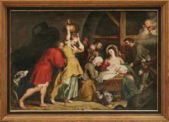 Rubens, Peter Paul - Kopie des 19. Jh. Anbetung des Jesuskindes durch die Hirten im Stall (Siegen
