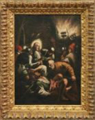 Gefangennahme Christi Venezianischer Meister des 17. Jh. Nächtliche, von Fackeln beleuchtete