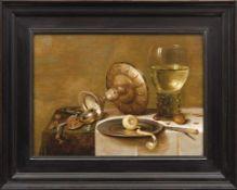 Flämischer Stilllebenmaler des 17. Jahrhunderts Gedeckter Tisch mit Prunkgefäßen und