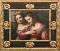 Forabosco, Girolamo Bildnis zweier jungen, vornehmen Damen (Venedig 1605-1679 Padua) Öl/Lwd., doubl.