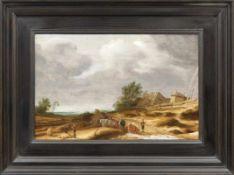 Ruysdael, Salomon van Hirte mit seiner Kuhherde an der Tränke (Naarden ca. 1600-1670 Haarlem) Öl/
