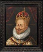 Portrait des Kaisers Matthias, König von Ungarn, Kroatien und Böhmen Prag, 17. Jh. Bildnisbüste im