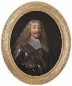 Champaigne, Philippe de (Attrib.) Ovales Bildnis eines Herren im Harnisch und mit weißem