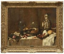 Heda, Willem Claeszoon - Umkreis Stillleben mit gedecktem Tisch (Haarlem um 1594-ca. 1670/82 ebd.)