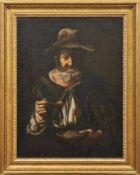 Bellotti, Pietro Bildnis eines alten Pilgers mit einem Teller Bohnen (Volciano di Salo 1625-1700