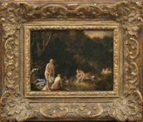 Loo, Jacob van - Umkreis Diana mit ihren Gefährtinnen beim Bade (Sluis 1614-1670 Paris) Öl/Holz.